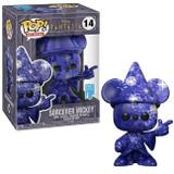 Funko Disney Fantasia 80th Sparkling Sorcerer Mickey Artist Series Funko Pop in Protector