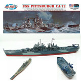 Atlantis Models USS Pittsburgh CA-72 Heavy Cruiser 1490 Scale Model Kit by Atlantis Models