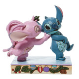 Disney Angel and Stitch Mistletoe Disney Traditions Figurine by Jim Shore 6008980