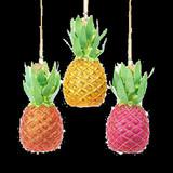 Kurt S Adler Multi-Color Pineapples Set of 3 - Hanging Ornaments Glass 2021 by Kurt S Adler