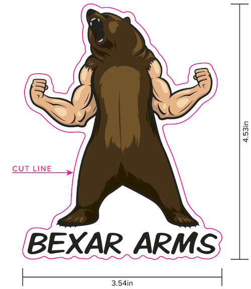 Bexar Your Arms Sticker