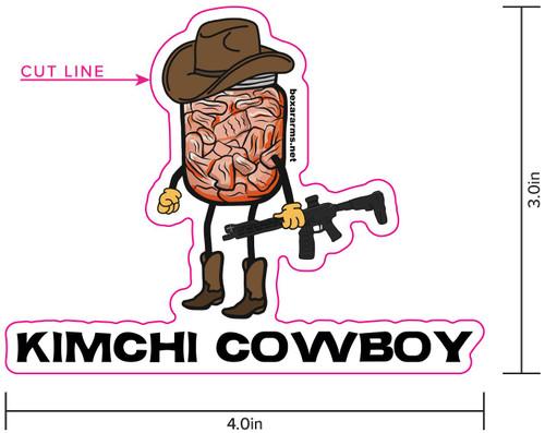 Kimchi Cowboy Sticker