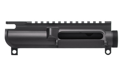 "AR15 Stripped Upper Receiver, No Forward Assist ""Slick Side"" - Anodized Black"