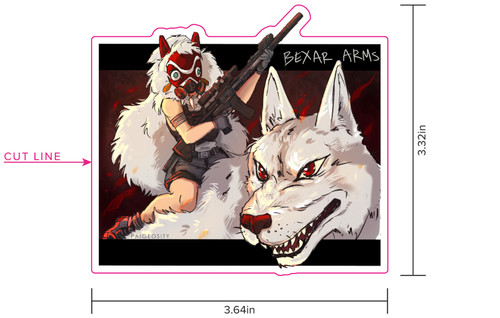 Callsign Wolf-3 Sticker