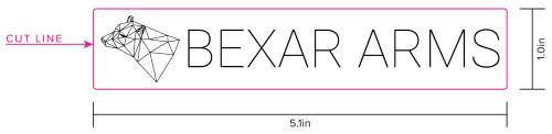 Bexar Arms Logo Sticker