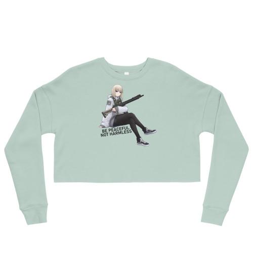 Be Peaceful Crop Sweatshirt - FREE Shipping!