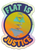 Flat Is Justice Holographic Limited Edition Sticker