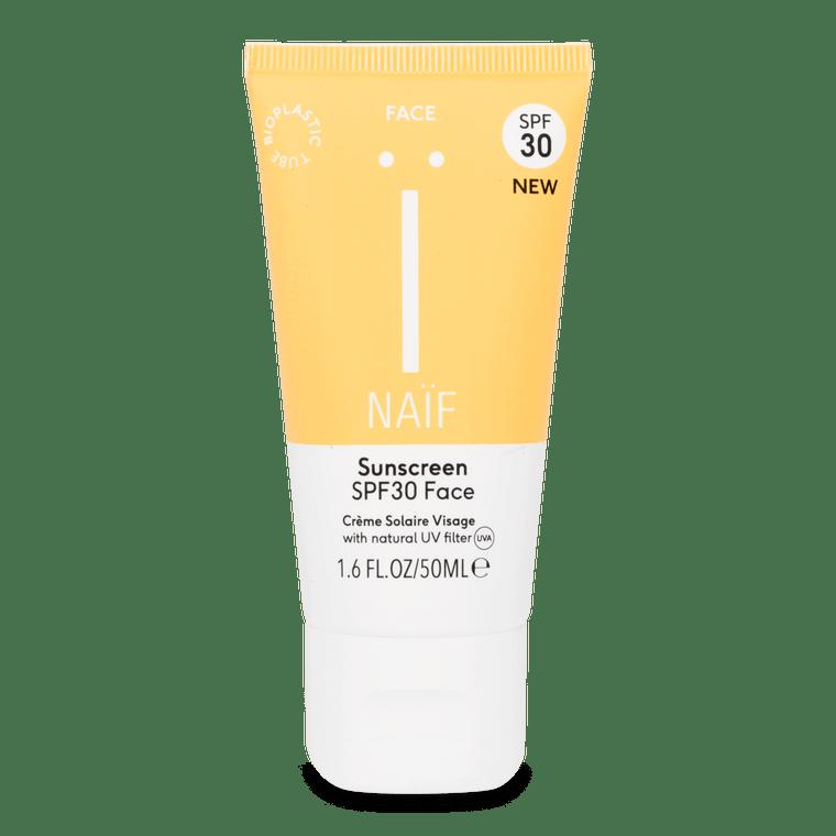 Naïf natuurlijke zonnebrandcrème gezicht SPF30