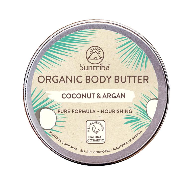 Suntribe Natuurlijke Lichaamsboter Kokos & Argan (150 ml)   No Nasties