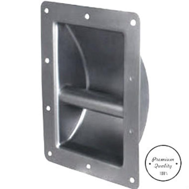 Premium recessed steel handle with mounting screws.