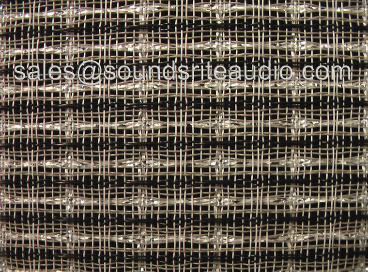 Black/White/Silver Grill Cloth. Made in USA 1 Yard
