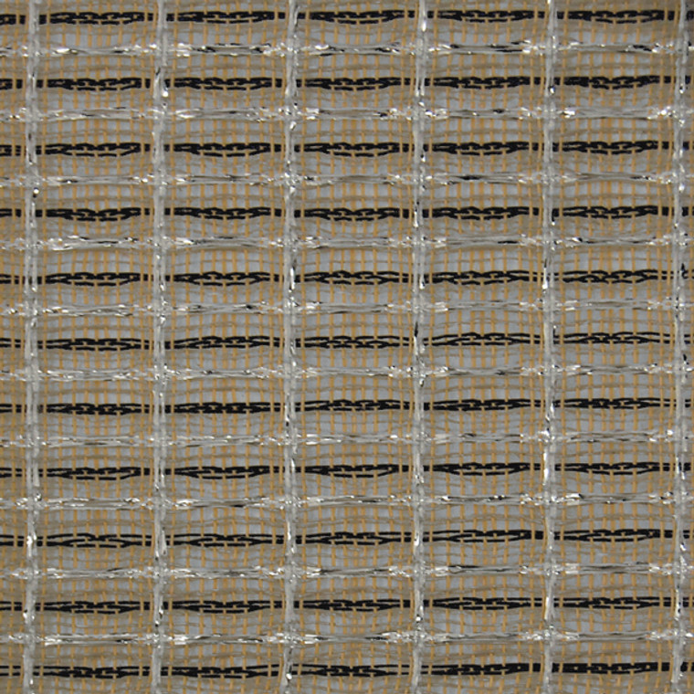 Aged fender style black/white/silver grill cloth. Made in USA 1 yard