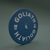 PRESALE AUGUST - PRINTED LOGO - Goliath Calibrated Powerlifting Plate - 20kg (PAIR)