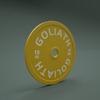PRINTED LOGO - Goliath Calibrated Powerlifting Plate - 15kg (PAIR)