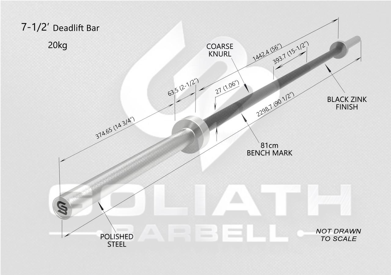 PRESALE AUG 2021 - Goliath Deadlift Bar - PINK Cerakote / Black sleeves  - 20kg