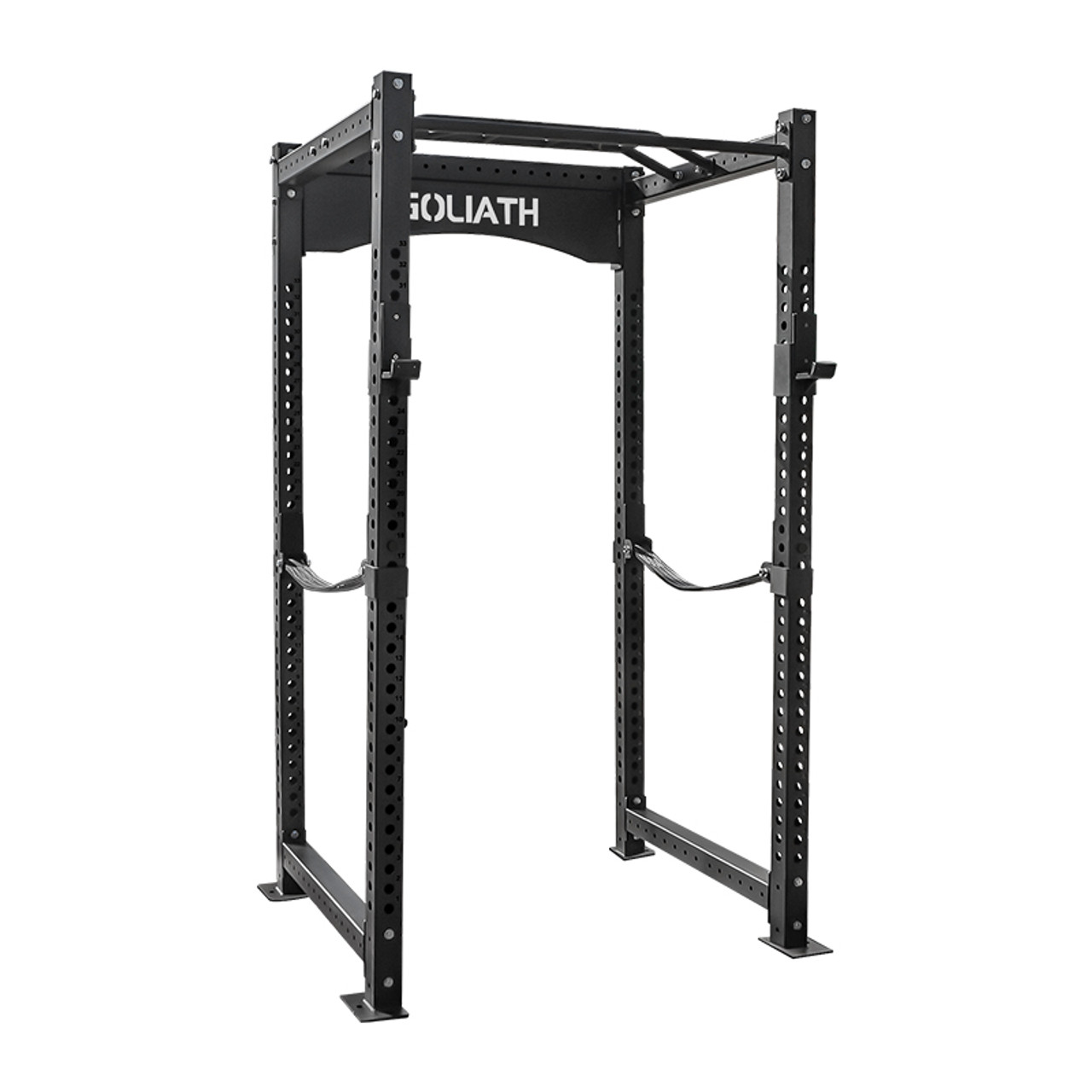 Economy Power Rack UPGRADE Package - upgraded hooks and spotting straps