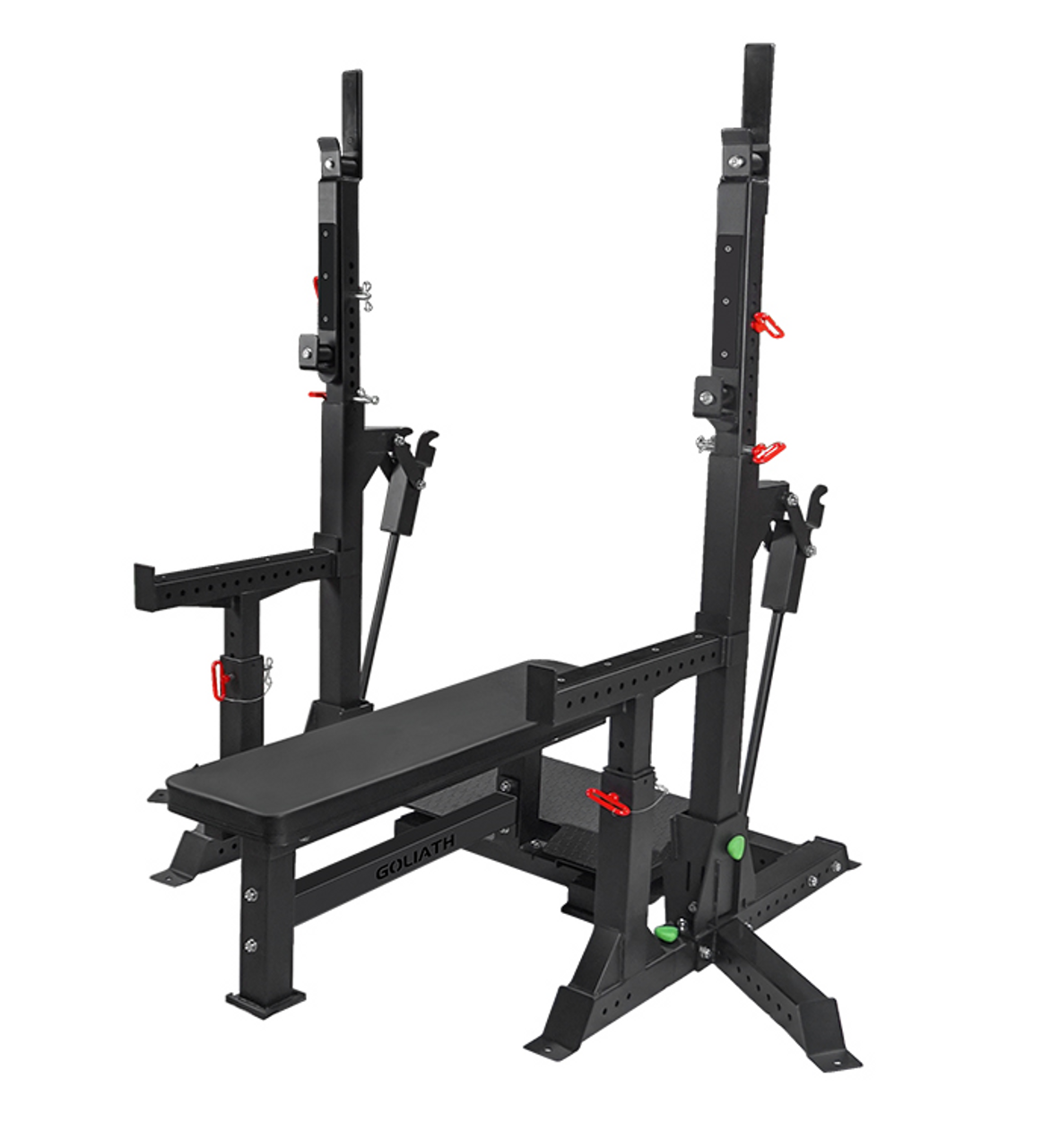 GOLIATH Ruggedised Competition Combo Rack. Squat and Bench heavy! (GOLIATH Ruggedised Combo Squat Bench)