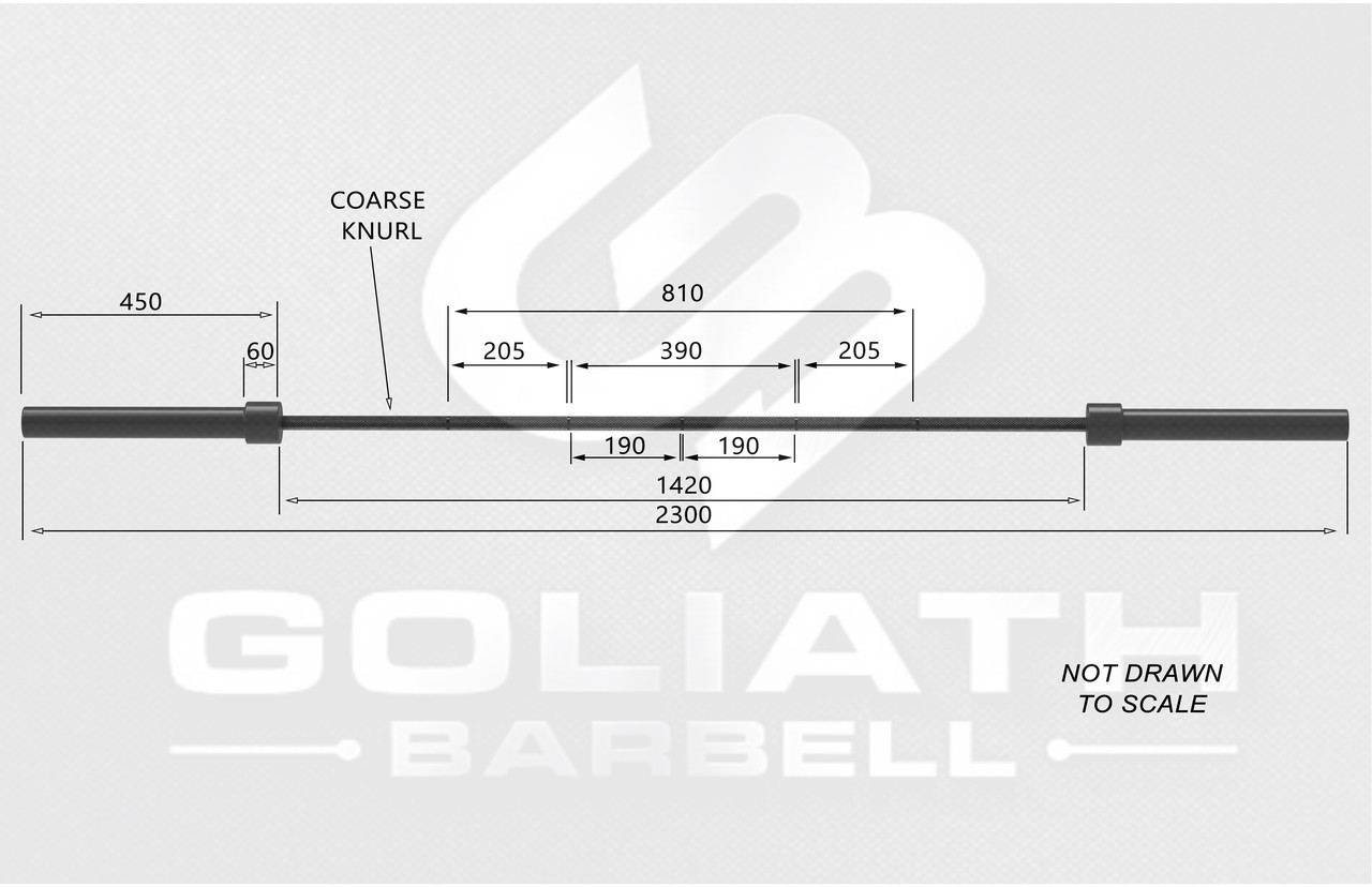 Goliath 25kg Squat bar - 35mm - black zinc