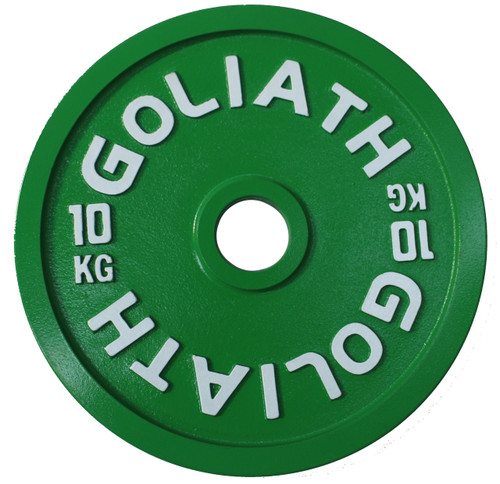 PRESALE - ARRIVAL EALY JANUARY - Goliath Calibrated Powerlifting Plate - 10kg (PAIR)