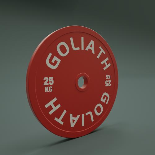 PRESALE OCTOBER - PRINTED LOGO - Goliath Barbell Calibrated Plates 459kg Set - BUY THE SET AND SAVE - PRINTED LOGO