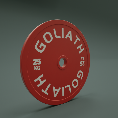 PRESALE AUGUST - PRINTED LOGO - Goliath Calibrated Powerlifting Plate - 25kg (PAIR)