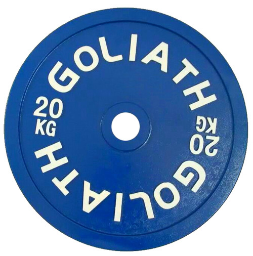 PRESALE - Goliath Calibrated Powerlifting Plate - 20kg (SOLD AS SINGLES) - LIMITED QUANTITY