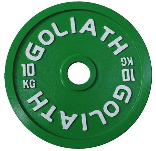 PRESALE Goliath Calibrated Powerlifting Plate - 10kg (PAIR).