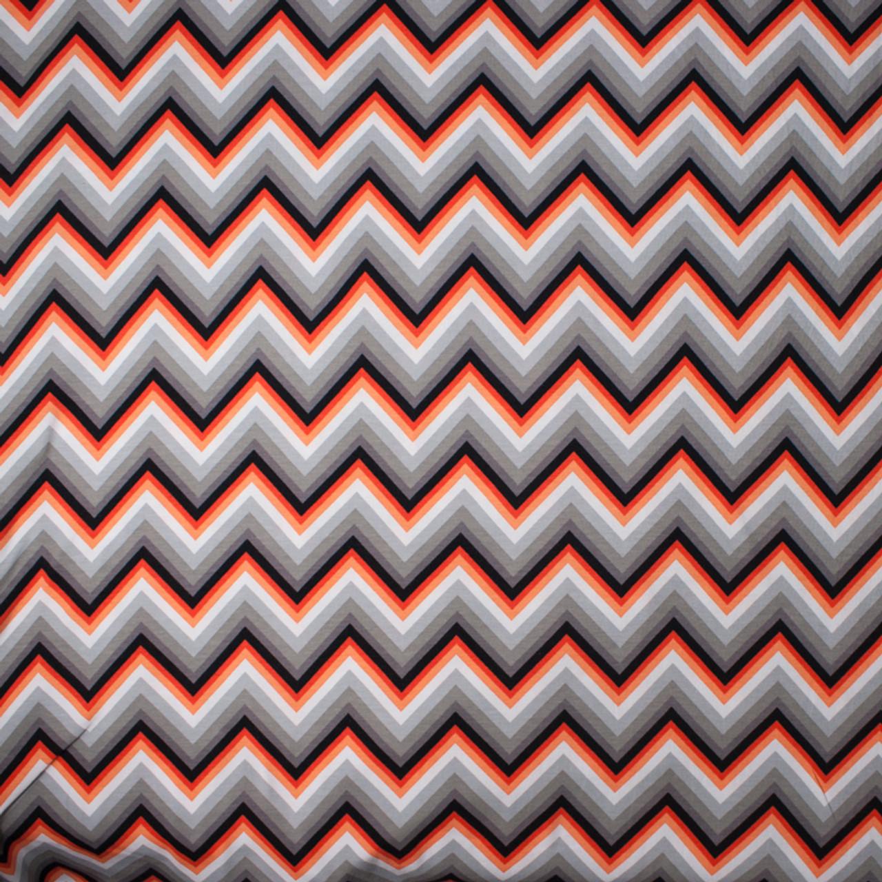 0b10b3627f4 ... Tangerine Chevron 'Laguna' Stretch Cotton/Lycra Jersey Knit by Robert  Kaufman