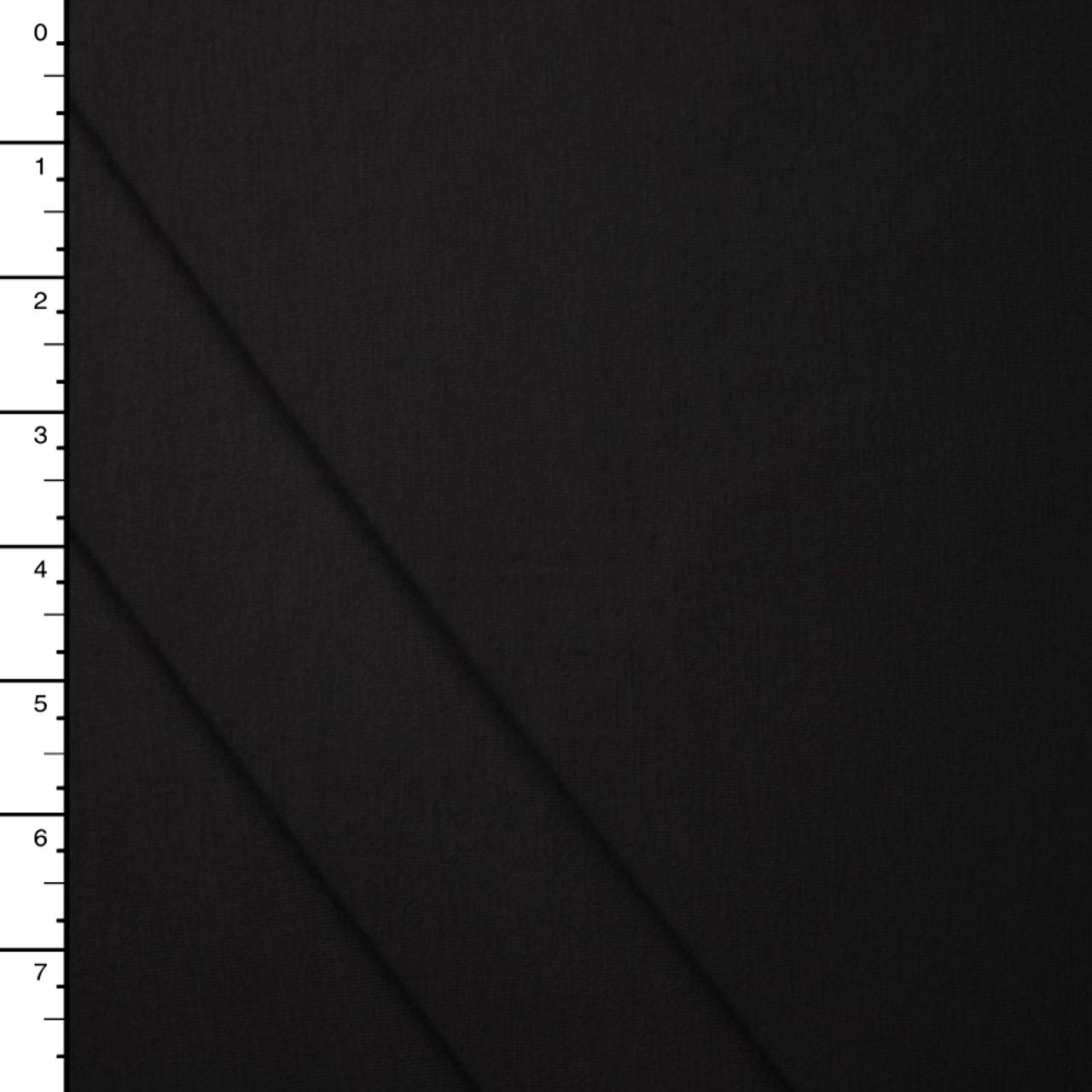 e538fd1db11 Cali Fabrics Black Organic Cotton/Bamboo Stretch Jersey Knit Fabric ...