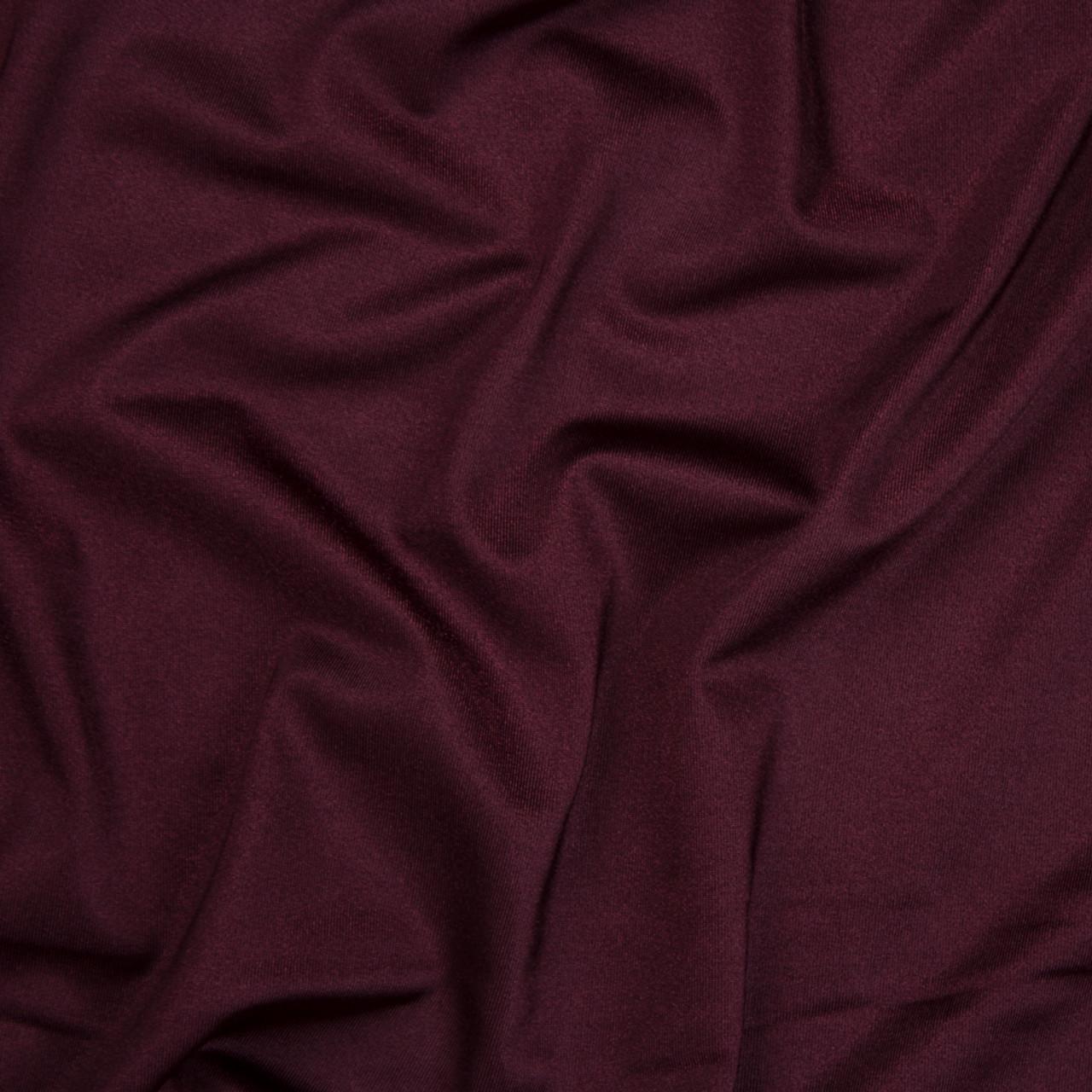 13c225364b7 ... Wine Shiny 4-way Stretch Nylon/Lycra Fabric By The Yard - Wide shot