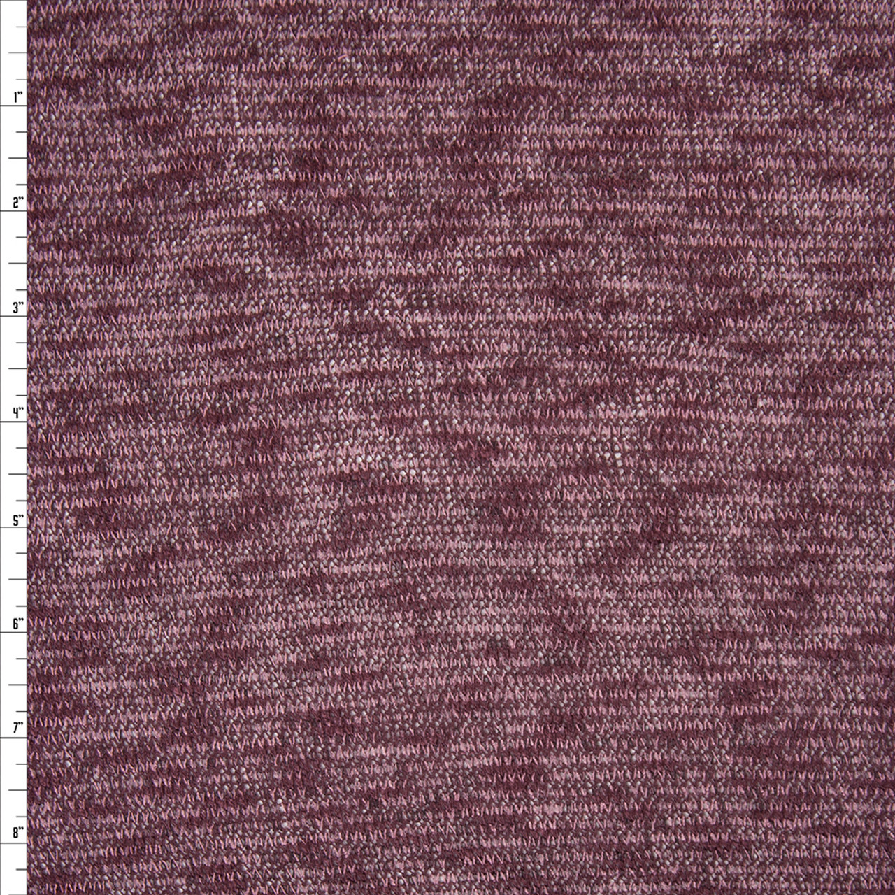 9f55dcdc5ec ... Plum and Lilac Mottled Lines Lightweight Stretch Sweater Knit Fabric By  The Yard - Wide shot