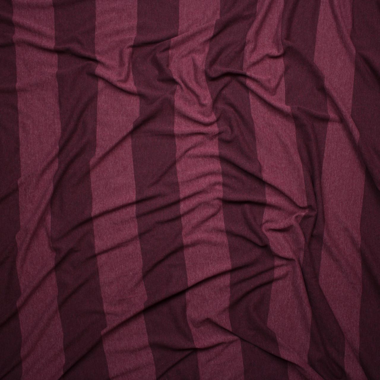 9c6acf6c035 ... Wine Wide Stripe Lightweight Jersey Knit Fabric By The Yard - Wide shot