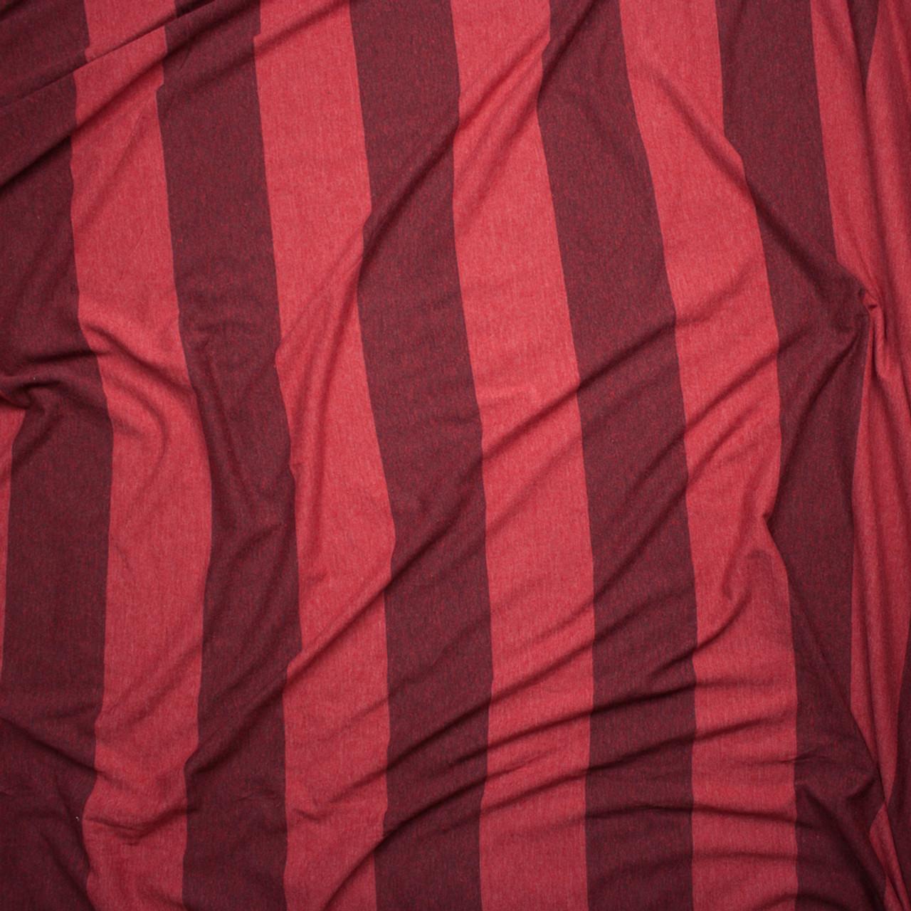 6ec7d1f9372 ... Brick Red Wide Stripe Lightweight Jersey Knit Fabric By The Yard - Wide  shot