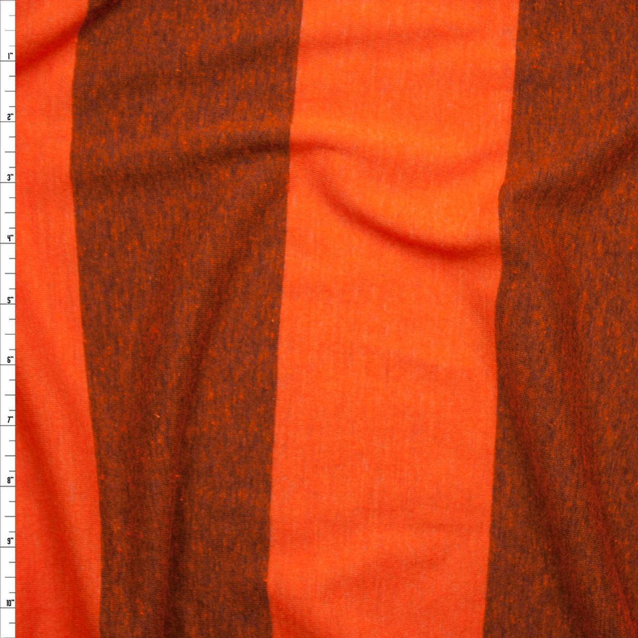 7d977572088 Cali Fabrics Orange Wide Stripe Lightweight Jersey Knit Fabric by ...
