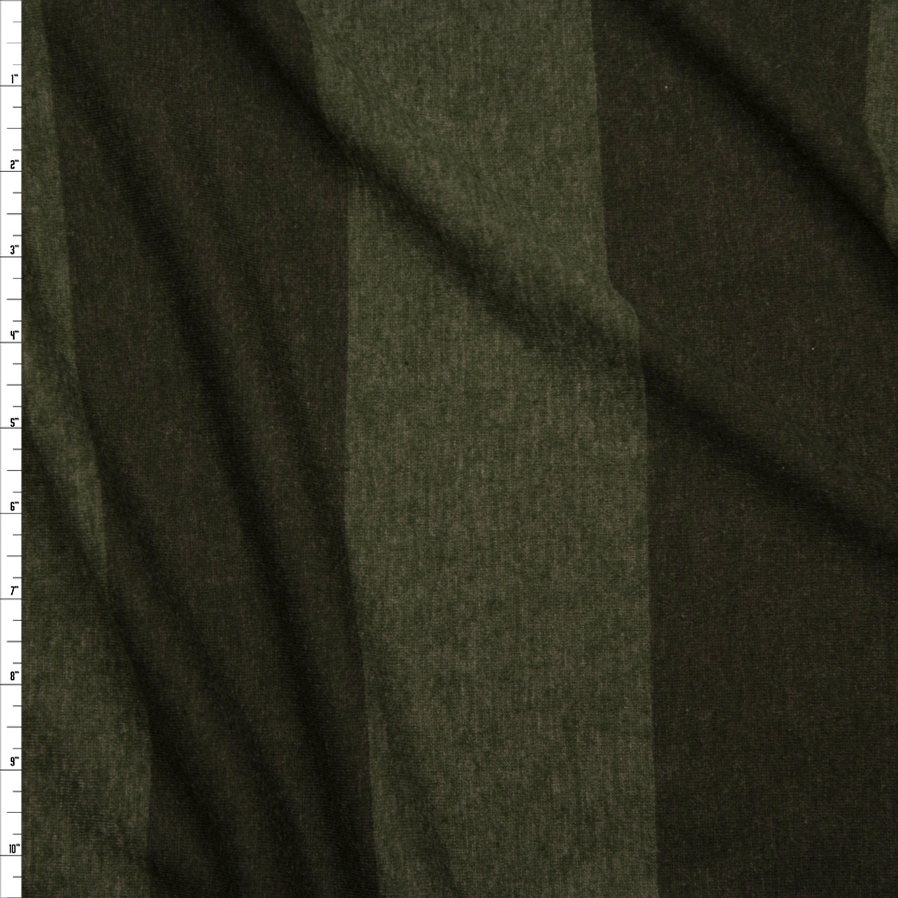 b922f6b1a3a Cali Fabrics Olive Wide Stripe Lightweight Jersey Knit Fabric by the ...