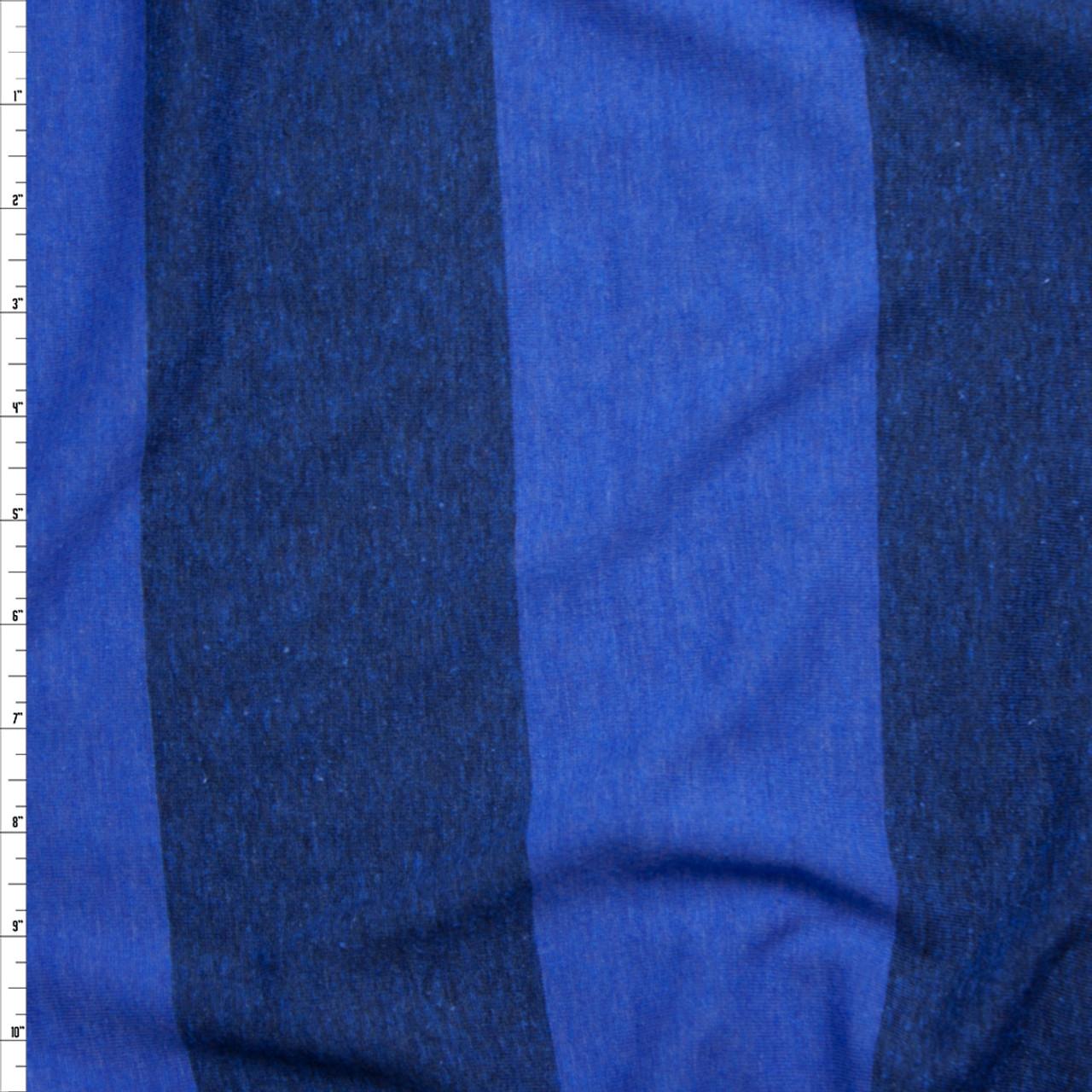 c4fe9bd05cc Cali Fabrics Bright Blue Wide Stripe Lightweight Jersey Knit Fabric ...