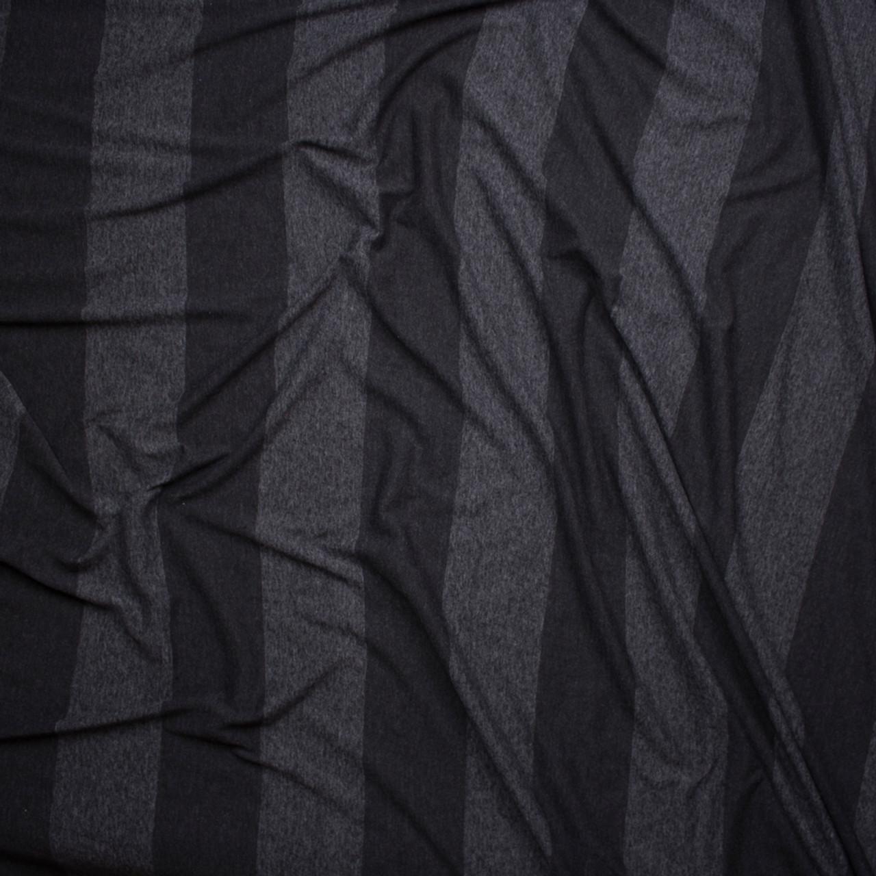 d8da814015f ... Black Wide Stripe Lightweight Jersey Knit Fabric By The Yard - Wide shot