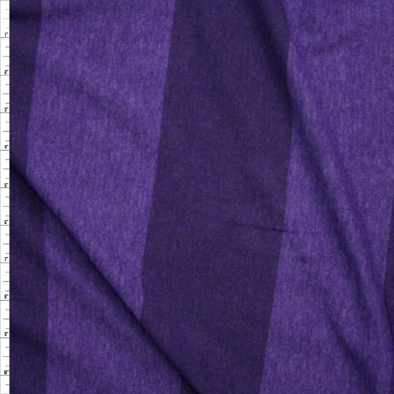 efc0455a9f5 Cali Fabrics Purple Wide Stripe Lightweight Jersey Knit Fabric by ...