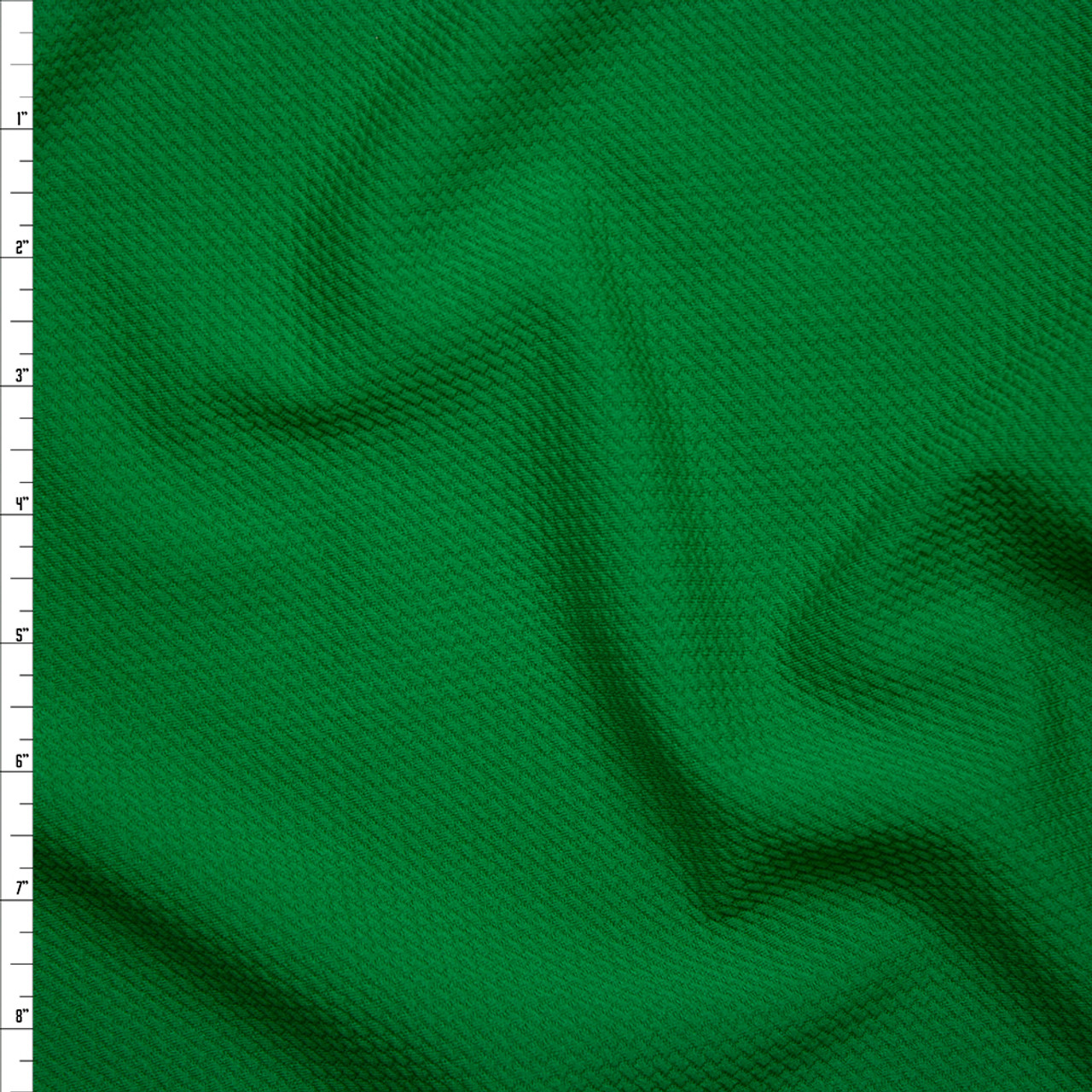 e09d86570a2 Cali Fabrics Solid Kelly Green Braided Texture Liverpool Knit Fabric ...