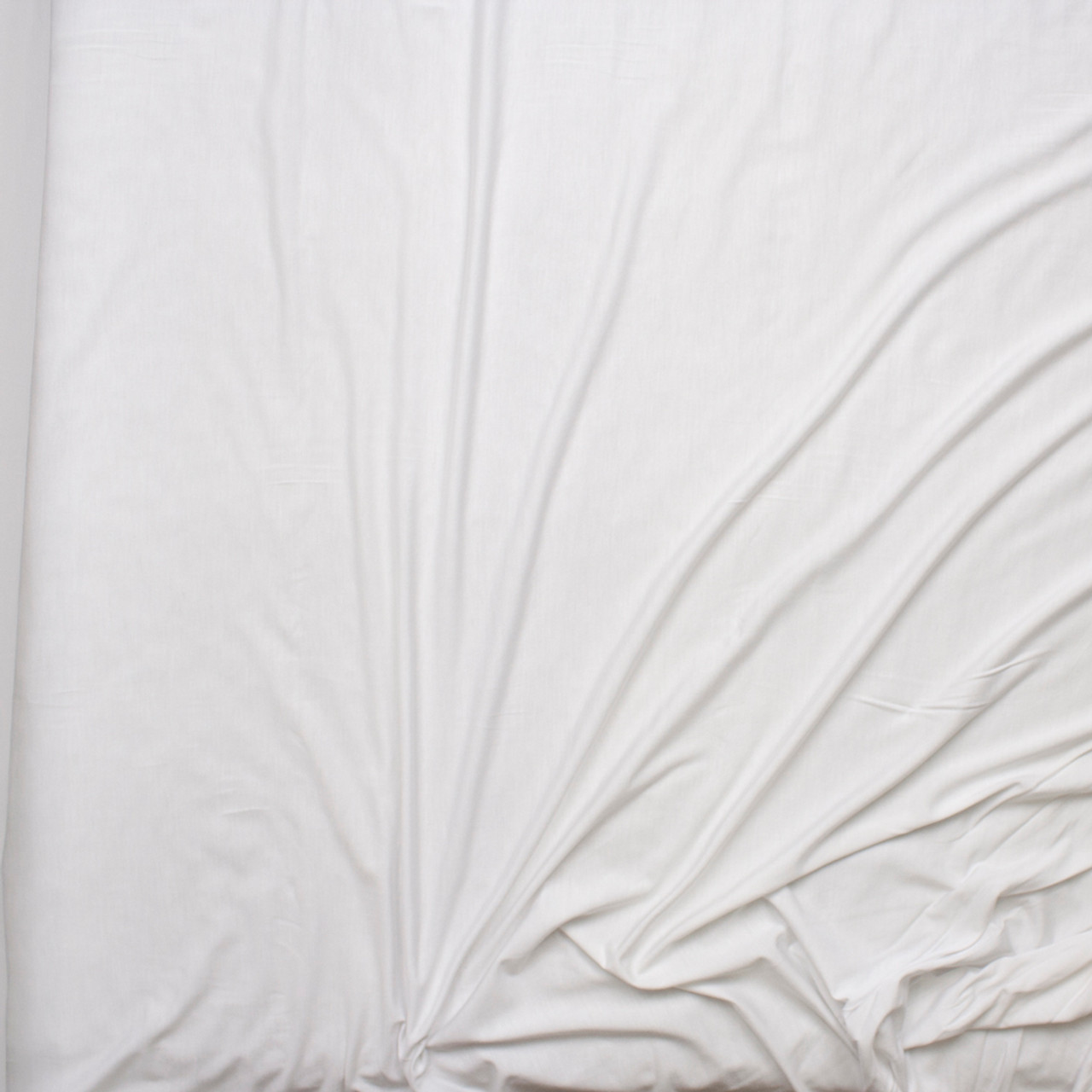 4a3f64a75f8 ... White Stretch Modal Jersey Knit Fabric By The Yard - Wide shot