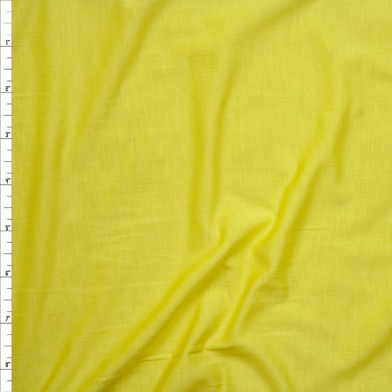 aa483a2e55a Cali Fabrics Yellow Stretch Modal Jersey Knit Fabric by the Yard