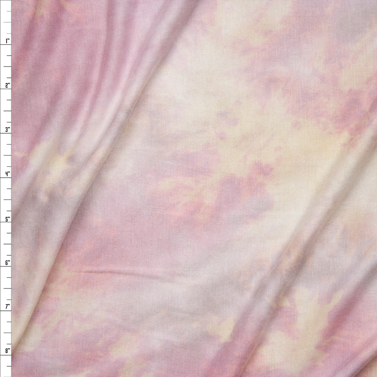 2cfaa8cedf7 Pastel Pink, Yellow, and Lavender Tie Dye Stretch Rayon Jersey Fabric By  The Yard ...