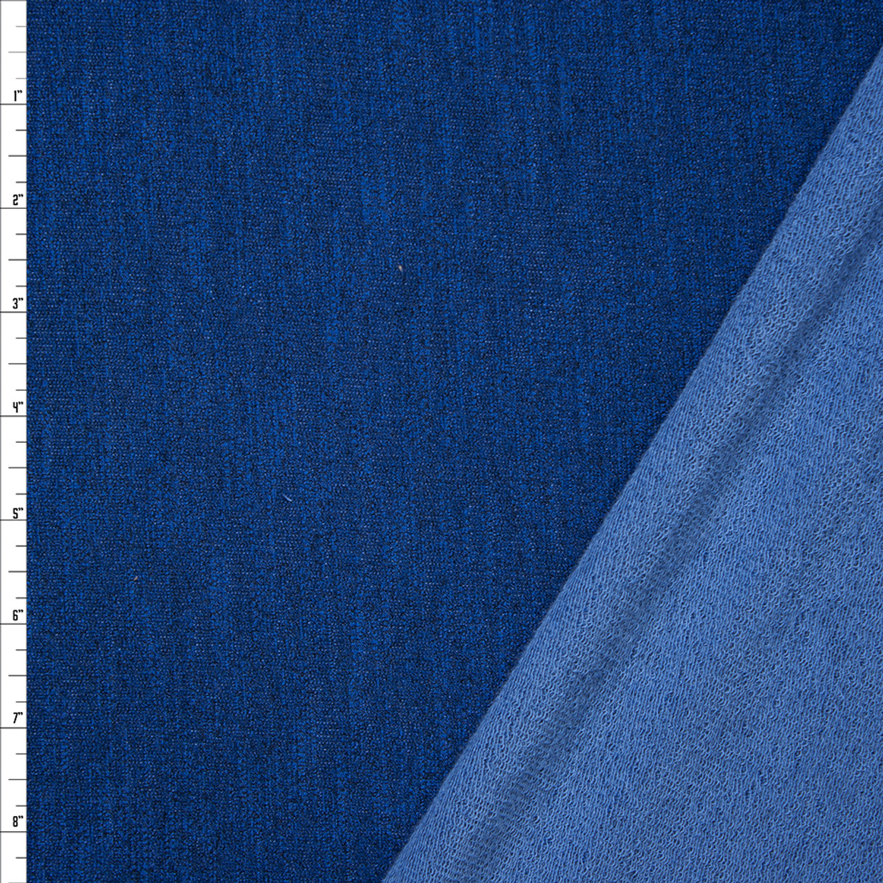 8c6225d7ca Cali Fabrics Royal Blue Heather Stretch French Terry Fabric by the Yard