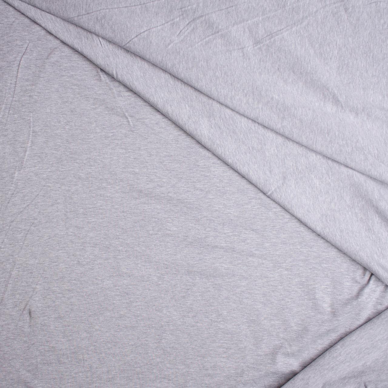 a60f0ebb755 ... Heather Grey Stretch Cotton Knit Fabric By The Yard - Wide shot