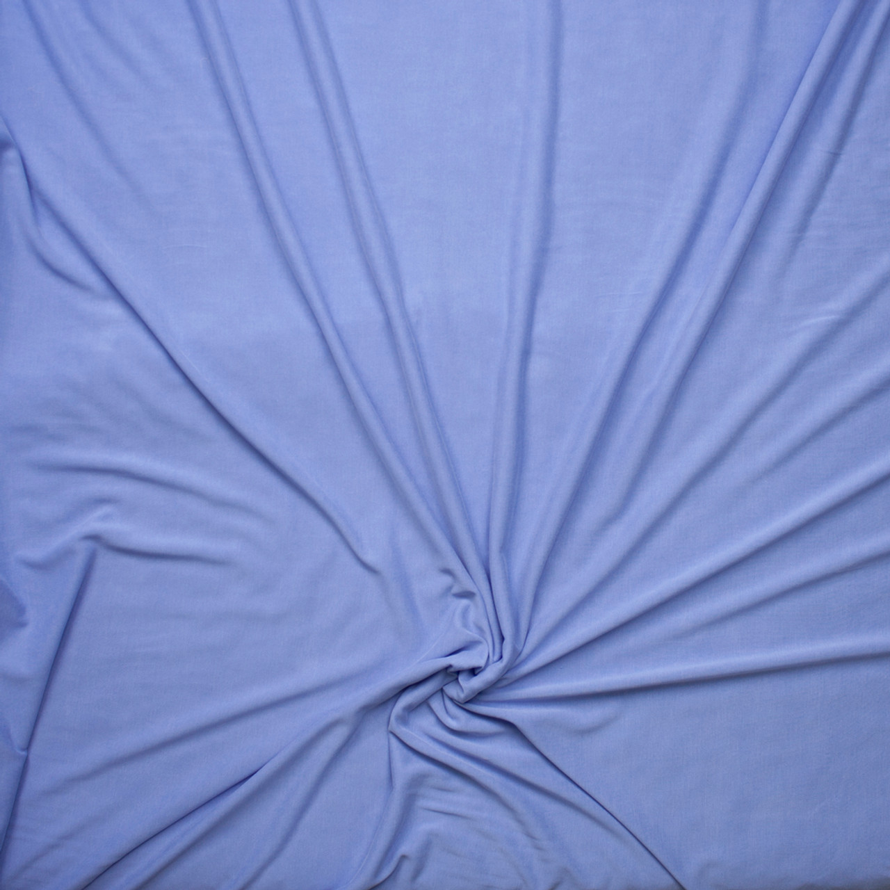 19a3d35ef01 ... Sky Blue Brushed Poly/Modal Jersey Knit Fabric By The Yard - Wide shot