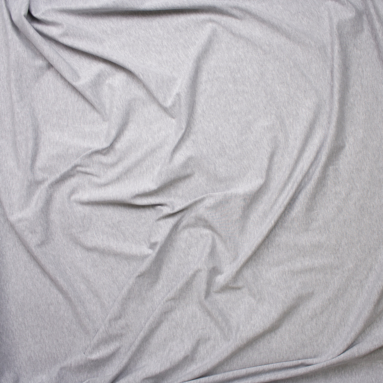 ff68560eb12 ... Heather Grey Light Midweight Stretch Cotton Jersey Knit Fabric By The  Yard - Wide shot