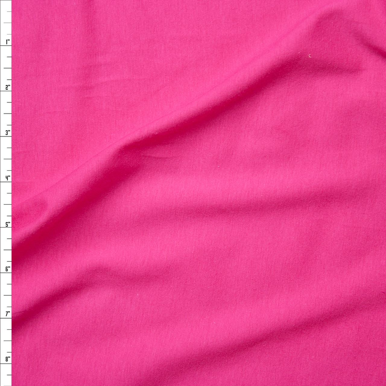 Cali Fabrics Hot Pink Light Midweight Stretch Cotton Jersey Knit
