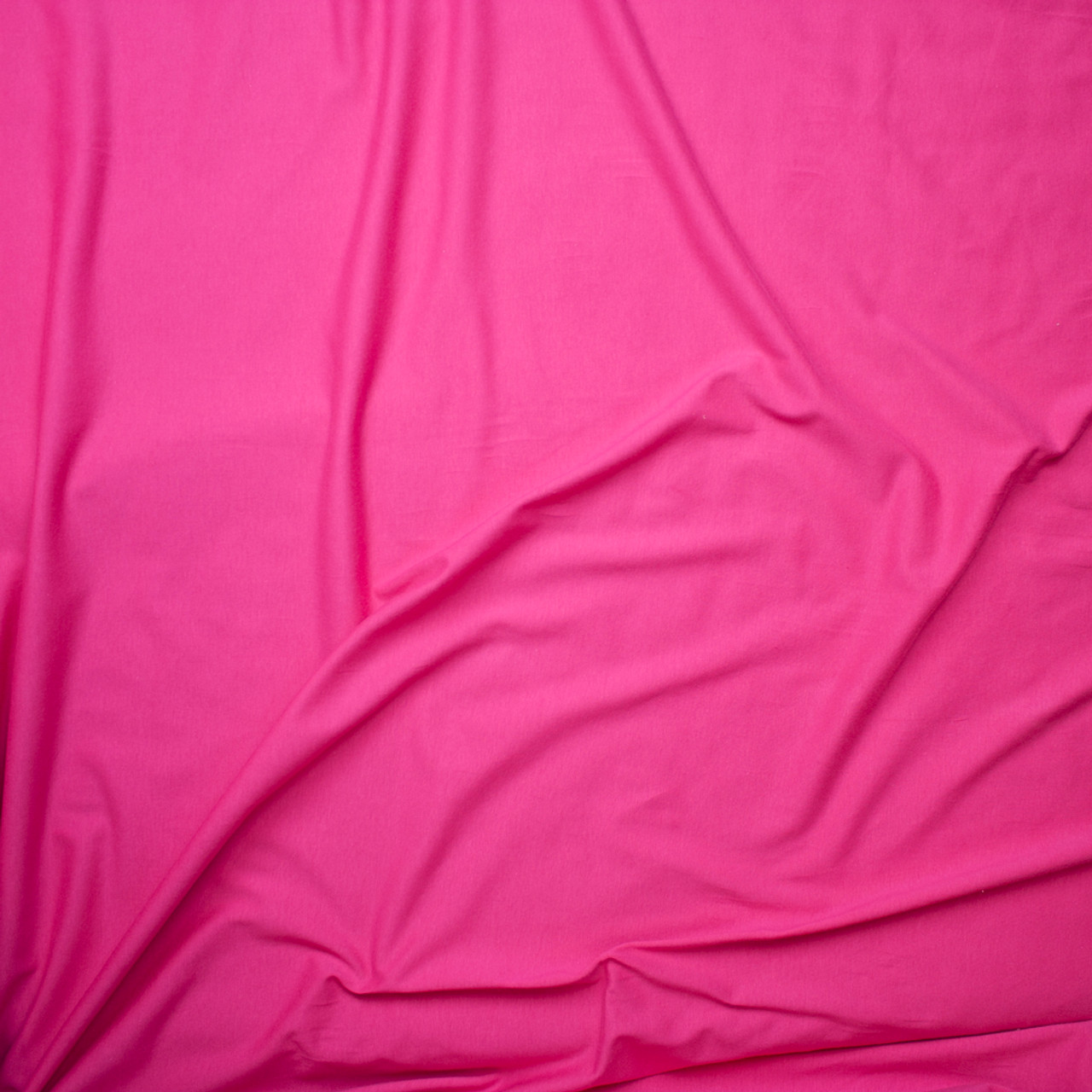 5477e74be2a ... Hot Pink Light Midweight Stretch Cotton Jersey Knit Fabric By The Yard  - Wide shot