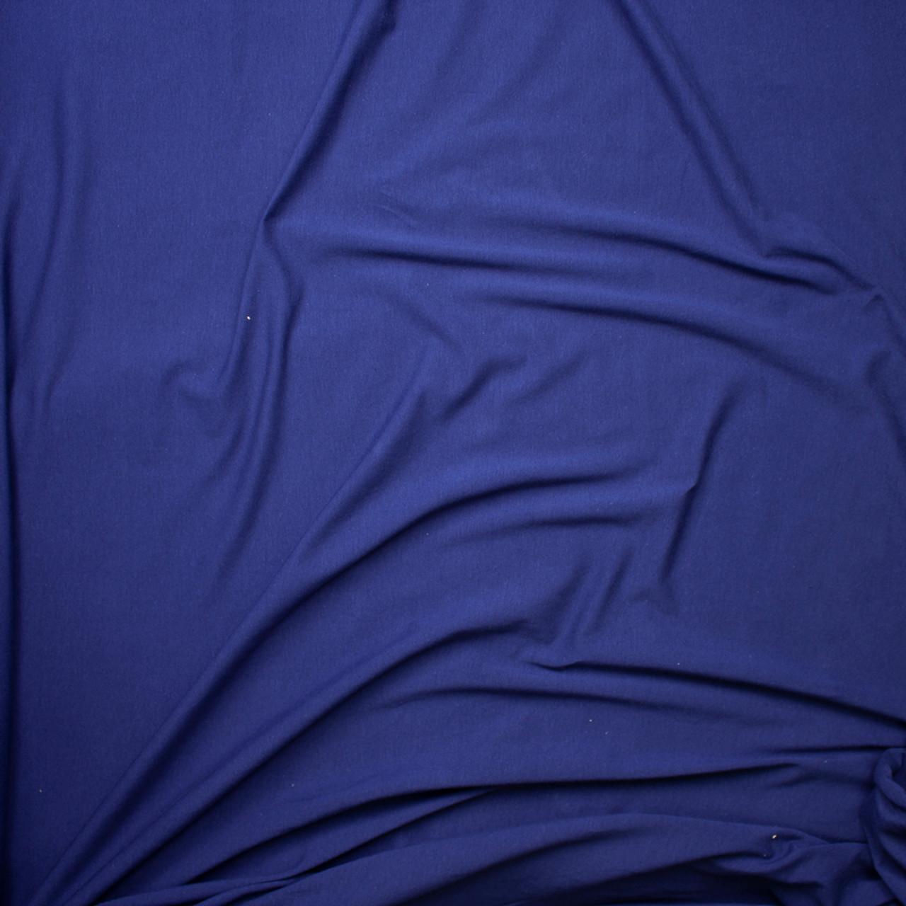 872e822fa8a ... Navy Blue Light Midweight Stretch Cotton Jersey Knit Fabric By The Yard  - Wide shot