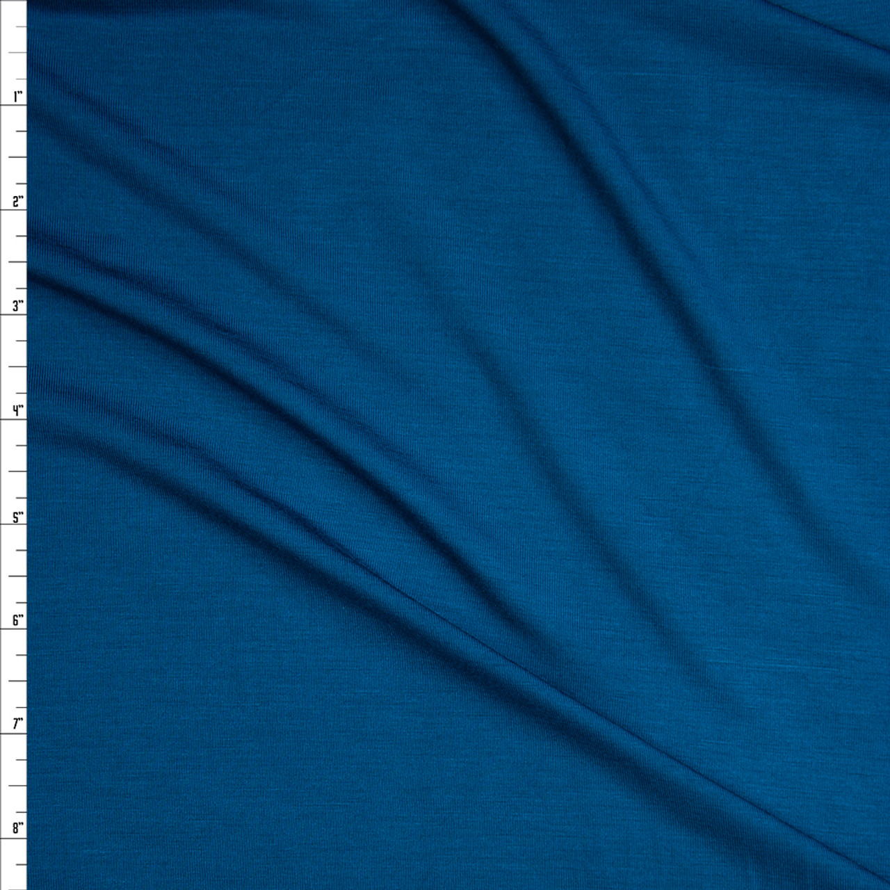 3126f9bed3e ... Teal Stretch Modal Jersey Knit Fabric By The Yard - Wide shot